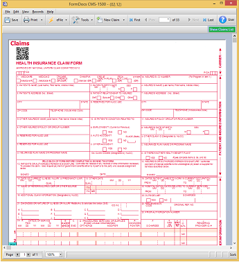 CMS-1500 Medical Billing Form