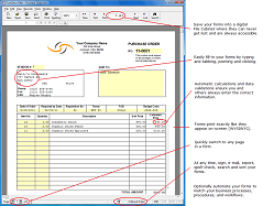 Fill-in Purchase Order Form Template - FormDocs Electronic Forms Software